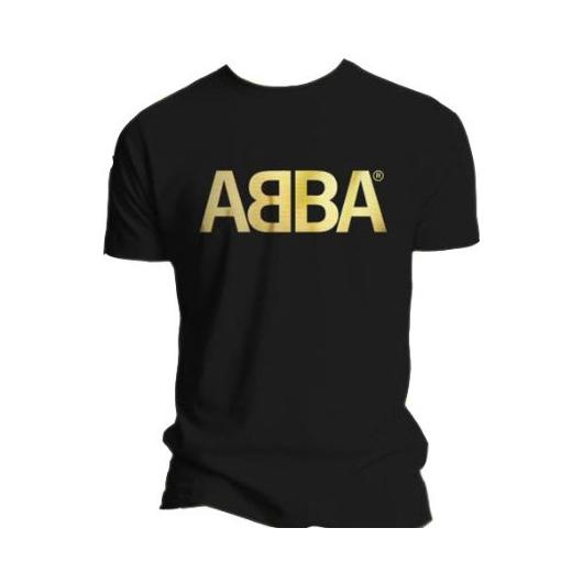 Футболка мужская ABBA - Logo Gold Black (размер S)
