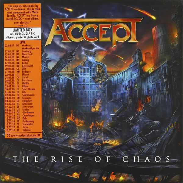 Accept Accept - Rise Of Chaos (2 Lp + Cd) free shipping main board for brother mfc j615w mfc j615 mfc j615 j615w formatter board mainboard on sale