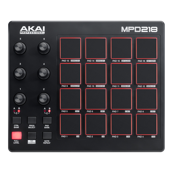 MIDI-контроллер AKAI Professional MPD218 akai pro mpc fly usb midi