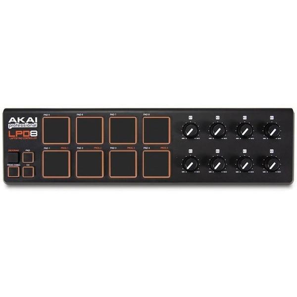 MIDI-контроллер AKAI Professional LPD8 midi контроллер alesis sample pad