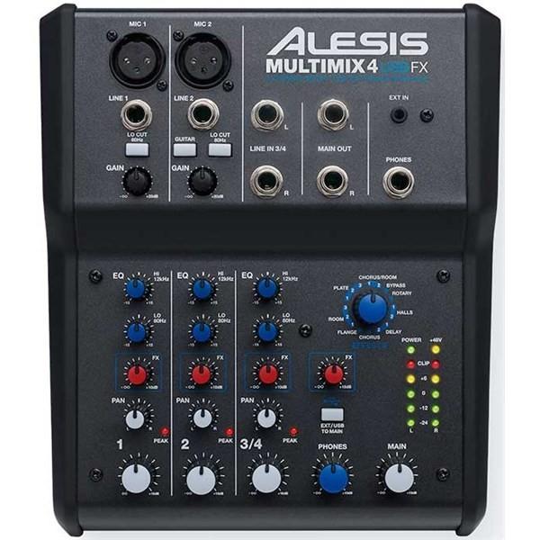 Аналоговый микшерный пульт Alesis MultiMix 4 USB FX alesis q49