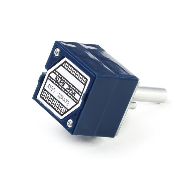 Потенциометр ALPS RK27 100 kOhm стерео (Blue Velvet) 25 мм
