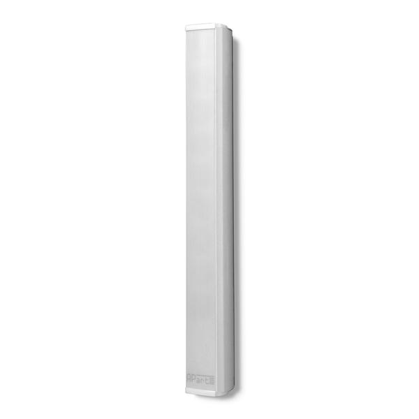 Настенный громкоговоритель APartНастенный громкоговоритель<br>Настенная акустическая система в алюминиевом корпусе, 2 полосы, 9 динамика: ВЧ купольный 25 мм, НЧ 8 х 50 мм, импеданс 16 Ом, работа в линии 100 В, чувствительность 86 дБ, диапазон частот 220 Гц – 20 кГц, габариты 66 x 614 x 66 мм, вес 8 кг.<br>