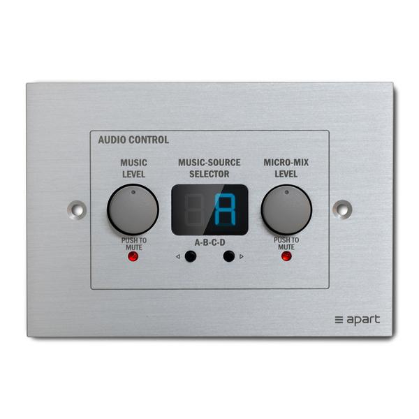 Панель управления APart ZONE4R apart pm1122w беспроводная панель управления белого цвета для предусилителя pm1122