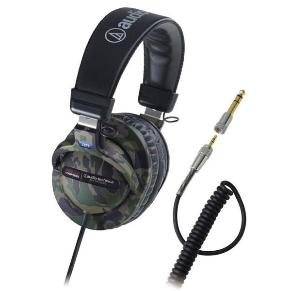 Охватывающие наушники Audio-TechnicaОхватывающие наушники<br>Наушники закрытого типа с прочным витым шнуром. Частотный диапазон 10 - 25000 Гц, чувствительность 98 дБ, сопротивление 38 Ом.<br>