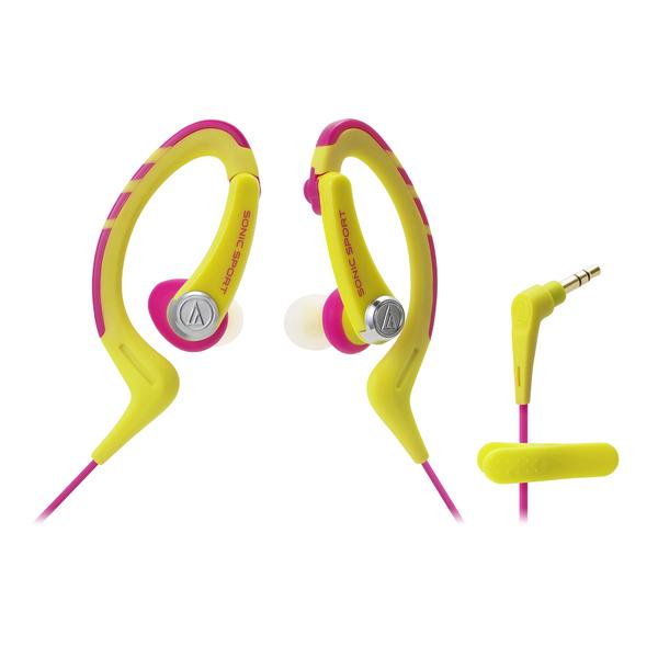 Внутриканальные наушники Audio-Technica ATH-SPORT1 Yellow/Pink внутриканальные наушники audio technica ath sport1is pink