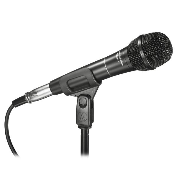 Вокальный микрофон Audio-TechnicaВокальный микрофон<br>Вокальный гиперкардиоидный микрофон, серия PRO , 70Гц-16кГц, 1.7 mV/Pa, c кабелем 4,5м (XLRF to XLRM) и чехлом<br>