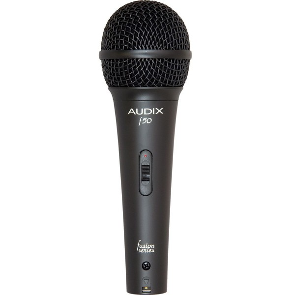 Вокальный микрофон AudixВокальный микрофон<br>Audix F50S - вокальный динамический микрофон с выключателем on/off, диаграмма направленности - кардиоида, 50 Гц - 16 кГц<br>