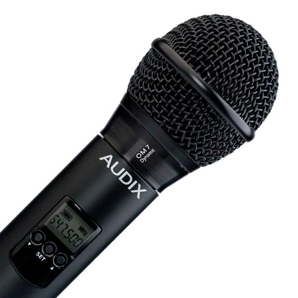 Радиосистема AudixРадиосистема<br>Радиосистема с ручным передат. капсюль OM7 гиперкардиоид, 193 частоты, вых. Jack/XLR<br>