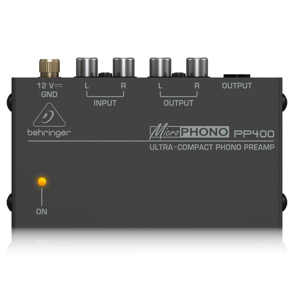 Фонокорректор Behringer MicroPHONO PP400 Black