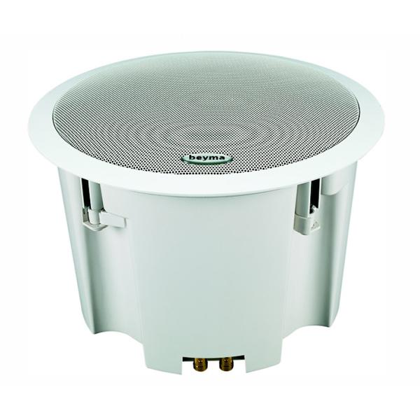 Встраиваемая акустика трансформаторная BeymaВстраиваемая акустика трансформаторная<br>Двухполосной коаксиальный потолочный громкоговоритель диаметром 200 мм со встроенным 100-вольтовым трансформатором и четырьмя вариантами настроек для этого режима. Разработан для трансляций в публичных местах, угол дисперсии – 90 градусов, широкий частотный диапазон от 40 Гц до 20 кГц.<br>
