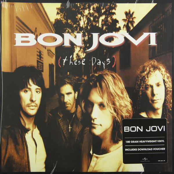 BON JOVI BON JOVI - THESE DAYS (2 LP, 180 GR) jon bon jovi destination anywhere