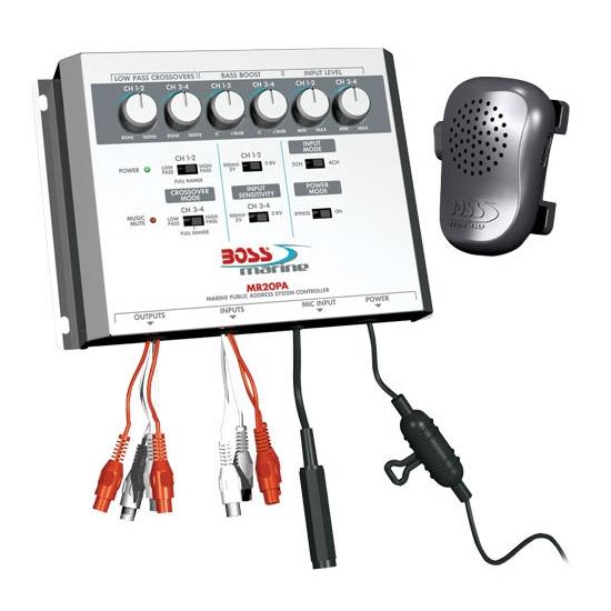 цена на Микшер-процессор BOSS Audio MARINE MR20PA