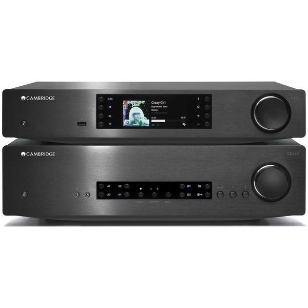 Стереоусилитель Cambridge Audio CXA 60 + CXN Black стереоусилитель cambridge audio cxa 80 cxn silver