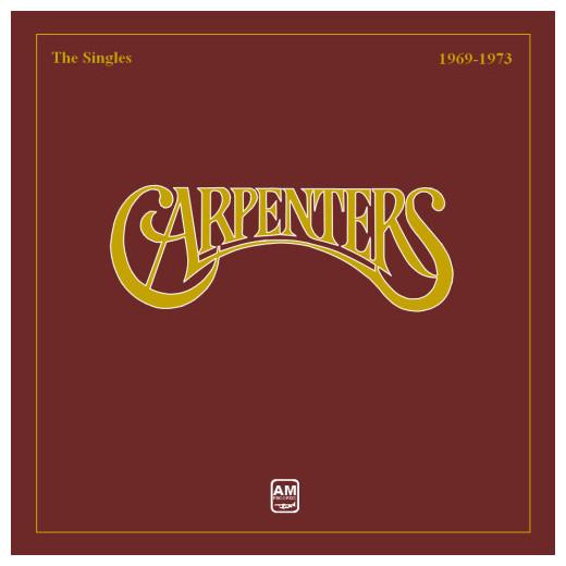 CARPENTERS CARPENTERS - THE SINGLES 1969 - 1973Виниловая пластинка<br><br>