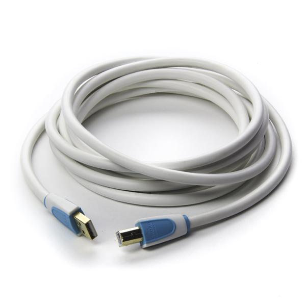 Кабель USB ChordКабель USB<br>USB-кабель,  посеребренная бескислородная медь, литые позолоченные разъемы USB Type A / USB Type B, диэлектрик: полиэтилен низкой плотности, длина 3 м.<br>
