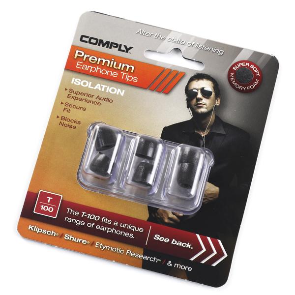Амбушюры для наушников Comply T-100 BLK-M (3 пары) аксессуары comply t 400 blk asst 3 пары