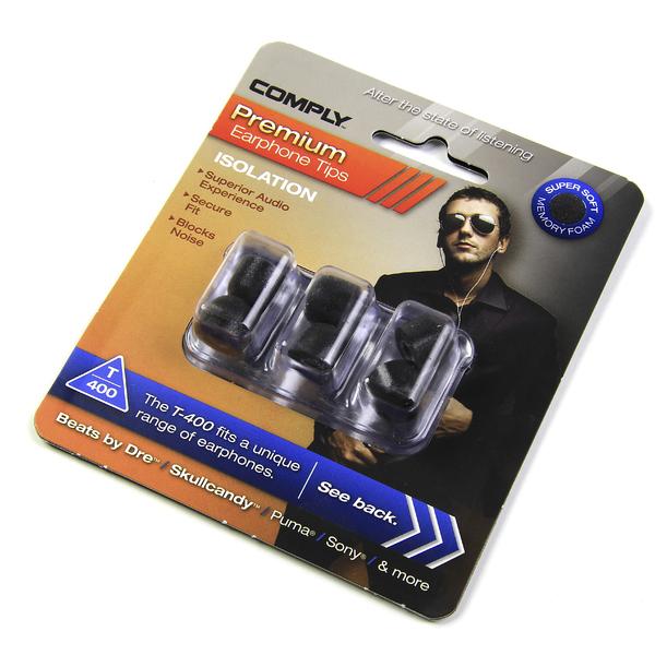 Амбушюры для наушников Comply T-400 L Black (3 пары)
