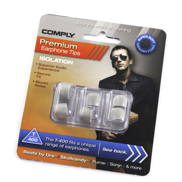 Амбушюры для наушников Comply T-400 M Grey (3 пары) амбушюры для наушников comply tx 400 s black 3 пары