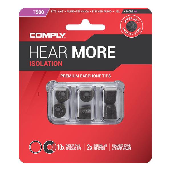 Амбушюры для наушников Comply T-500 BLK-M (3 пары) аксессуары comply t 400 blk asst 3 пары