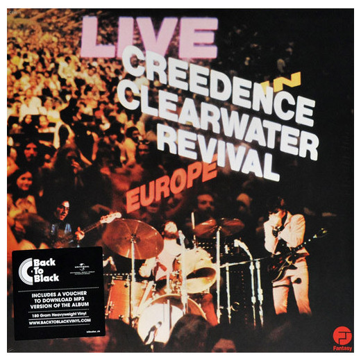 CREEDENCE CLEARWATER REVIVAL CREEDENCE CLEARWATER REVIVAL - LIVE IN EUROPE (2 LP) вешала clearwater home