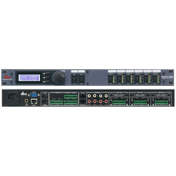Контроллер/Аудиопроцессор dbx ZonePRO 1260m контроллер акустических систем dbx zc6