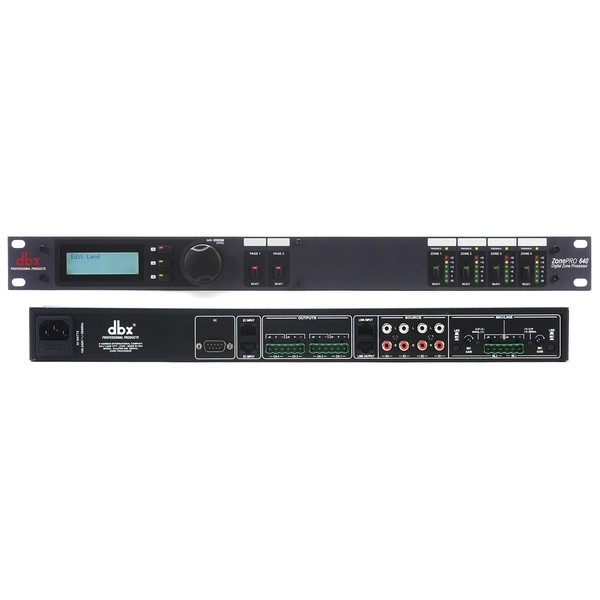 Контроллер/Аудиопроцессор dbx ZonePRO 640 контроллер акустических систем dbx zc9