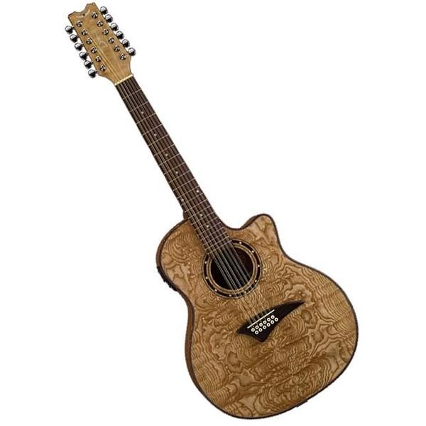 Гитара электроакустическая Dean Exotica Quilt Ash A/E 12 String Gloss Natural