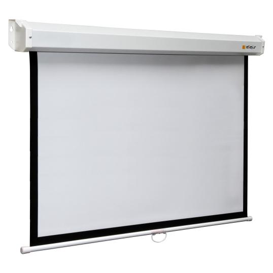 Экран для проектора DigisЭкран для проектора<br>Экран настенного и потолочного крепления с ручным приводом, покрытие Matt White (MW) - виниловая матово-белая поверхность, соотношение сторон 16:9, диагональ 105 дюймов, рабочая поверхность 129 x 232 см, размеры (В/Ш) 240 x 240 см, вес 18.1 кг.<br>