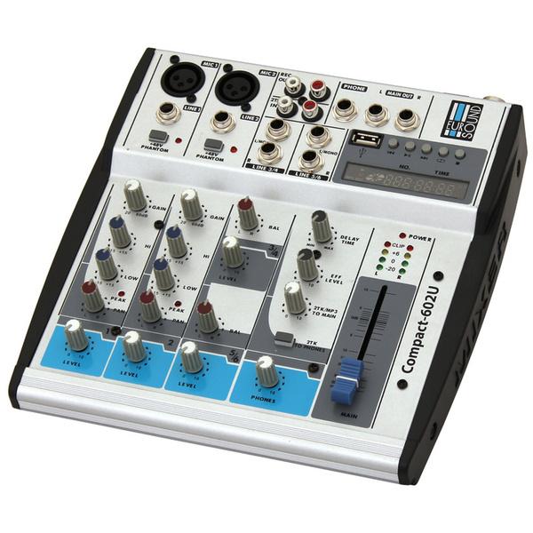 Аналоговый микшерный пульт Eurosound Микшерный пульт  Compact-602U изображение