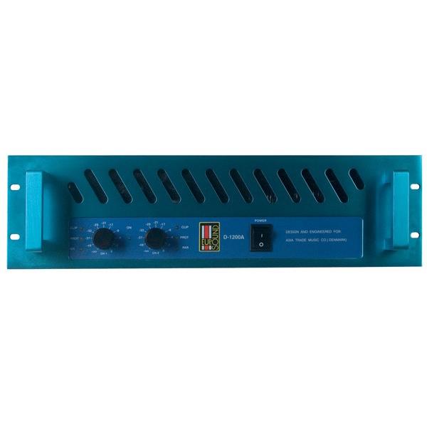 Профессиональный усилитель мощности EurosoundПрофессиональный усилитель мощности<br>Усилитель мощность для профессионального использования, 2 х 300 Вт 8 Ом, рабочие частоты 10 Гц - 20000 Гц, КНИ 0.05%, система защиты от перегрузок, габариты 482х88х445 мм (ВхШхГ), масса 22 Кг<br>