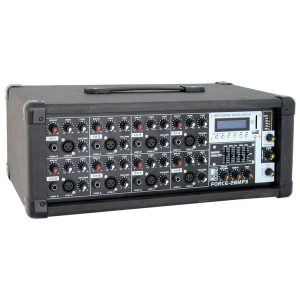 Микшерный пульт с усилением Eurosound Force-28MP3 микшерный пульт pioneer xdj 1000mk2