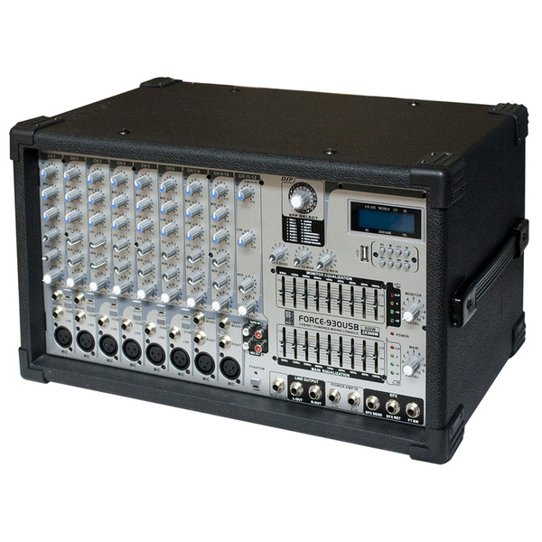 Микшерный пульт с усилением Eurosound