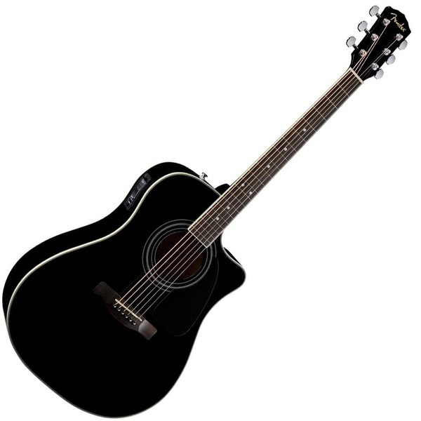 Гитара электроакустическая Fender CD-140SCE Dreadnought Black