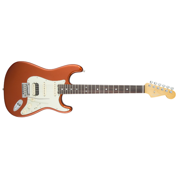 Электрогитара Fender American Elite Stratocaster HSS Shawbucker Rosewood Fingerboard Autumn Blaze Metallic