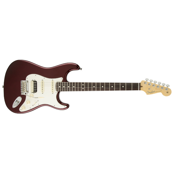 Электрогитара Fender American Standard Stratocaster HSS Shawbucker Rosewood Fingerboard Bordeaux Metallic