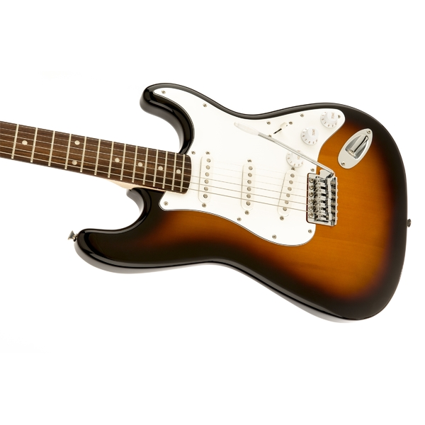 Электрогитара Fender Squier Affinity Stratocaster RW Brown Sunburst fender squier standard stratocaster left hand antique burst