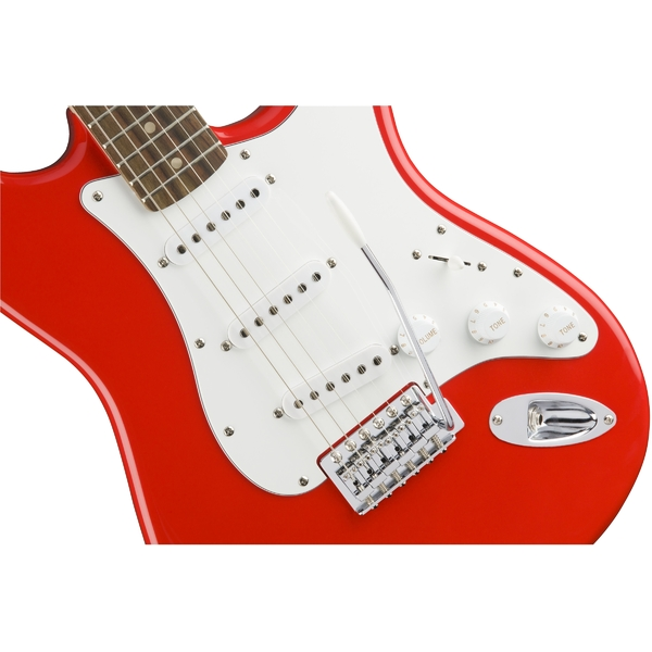 Электрогитара Fender Squier Affinity Stratocaster RW Race Red fender fender squier affinity series stratocaster® rosewood fingerboard race red