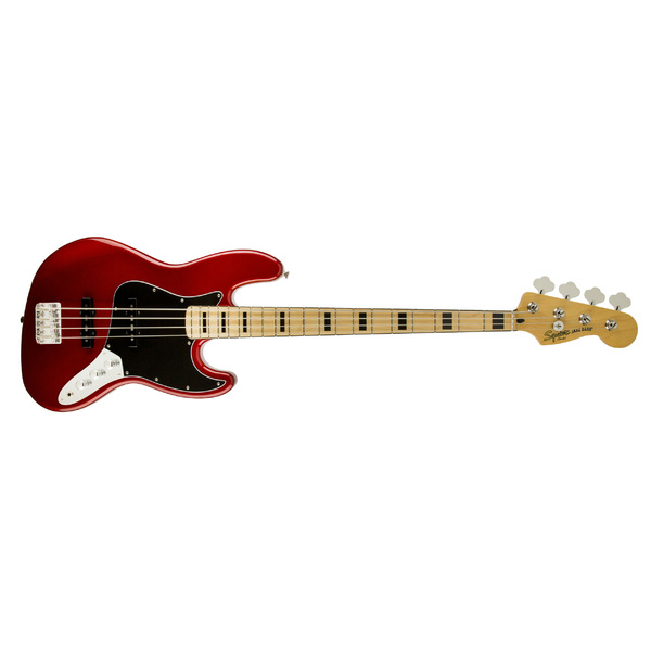 Бас-гитара Fender Squier Vintage Modified Jazz Bass '70s Maple Fingerboard Candy Apple Red fender squier affinity jazz bass rw black