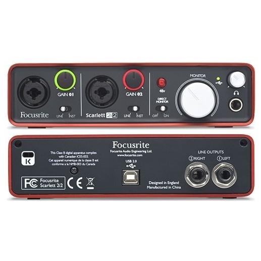 Внешняя студийная звуковая карта Focusrite
