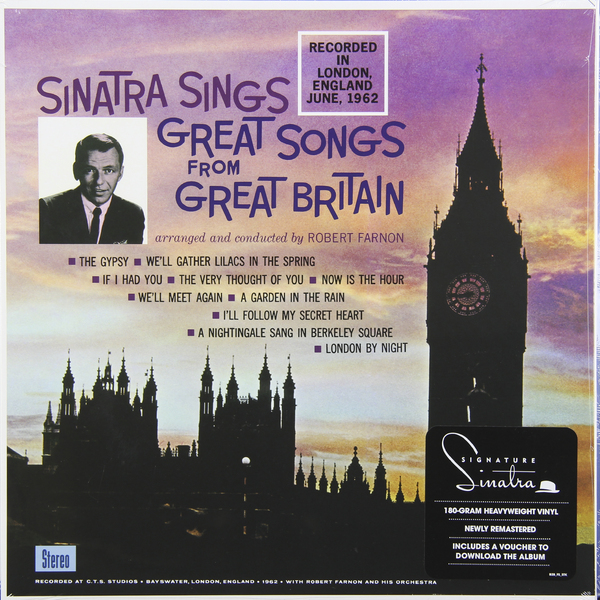 FRANK SINATRA FRANK SINATRA - GREAT SONGS FROM GREAT BRITAIN (180 GR) купить