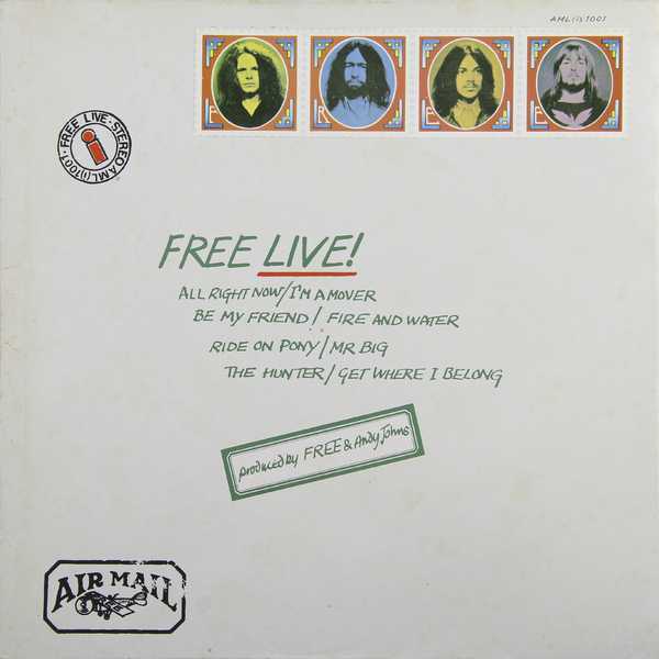 FREE FREE - Free Live (japan Original. 1st Press. Gimmic Cover) (винтаж) richard wright richard wright wet dream 1st press japan original master sound винтаж