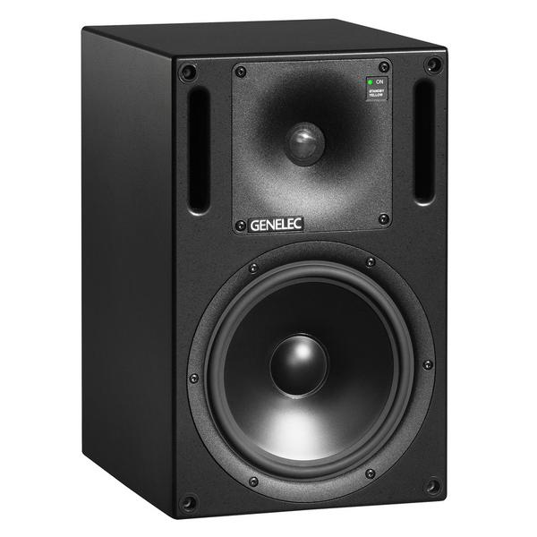 Активная полочная акустика GenelecАктивная полочная акустика<br>Активная двухполосная полочная акустика фазоинверторного типа. Частотный диапазон 48 - 22000 Гц, мощность 120 Вт (ВЧ) + 120 Вт (НЧ), масса громкоговорителя 12,7 кг.<br>