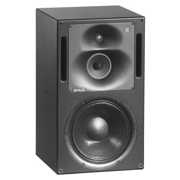 Активная полочная акустика GenelecАктивная полочная акустика<br>Активная трехполосная полочная акустика фазоинверторного типа с выносным усилителем. Частотный диапазон 37 - 21000 Гц, мощность 120 Вт (ВЧ) + 120 (СЧ) + 180 Вт (НЧ), габариты (ШхВхГ) АС: 400x680x380 мм, усилитель: 483х133х350 мм, масса АС 37 кг, усилителя 12,3 кг.<br>