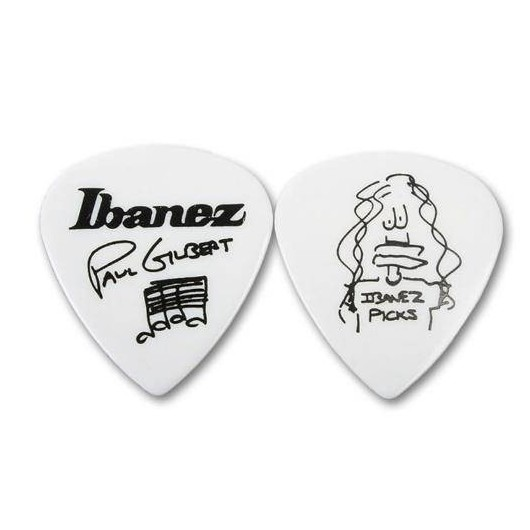 Медиатор Ibanez 1000PGWH Paul Gilbert Medium White ibanez 1000pgjb paul gilbert pick