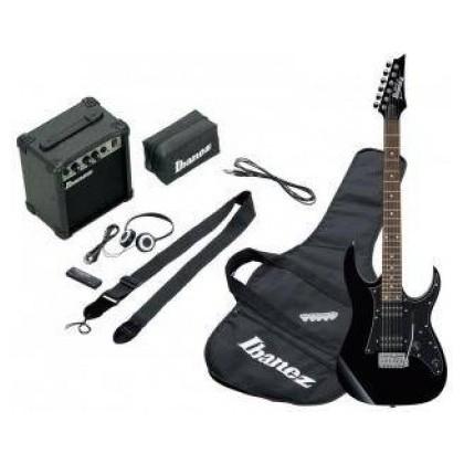 Электрогитара IbanezЭлектрогитара<br>Набор начинающего гитариста. Серия GIO: электрогитара GRG, фурнитура хром, 22 лада, мензура 25.5, звукосниматели H-H ,тремоло, чехол, комбо 10Вт, тюнер, ремень, наушники<br>