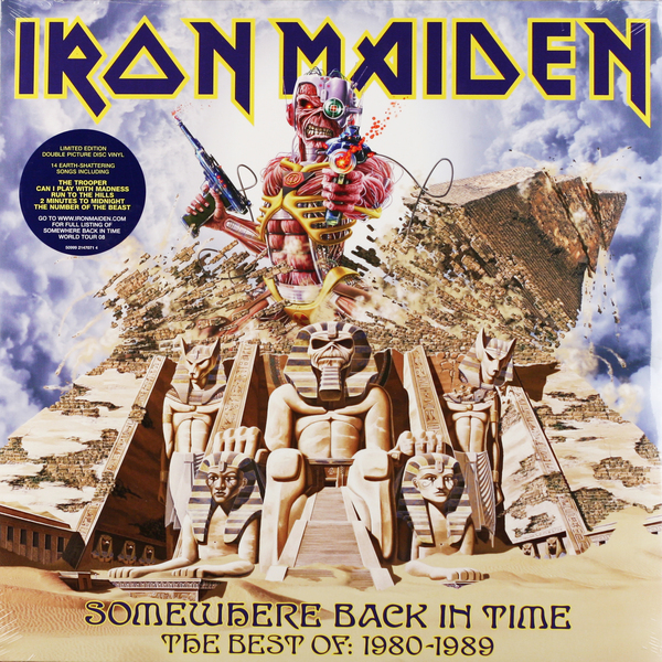 Iron Maiden Iron Maiden - Somewhere Back In Time - The Best Of: 1980-1989 (2 LP) iron maiden the book of souls 3 lp