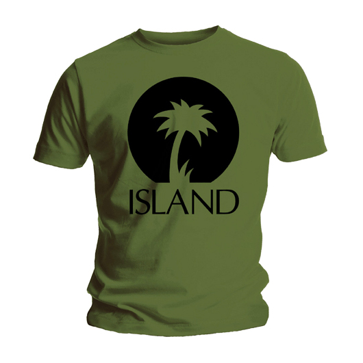 Футболка мужская Island Records - Palm Logo Green (размер S) от Audiomania