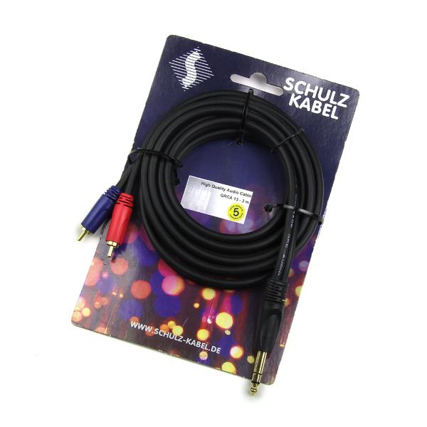 Кабель межблочный Jack-RCA Schulz Кабель межблочный Jack-2RCA  GRCA 14 6 m кабель jack jack schulz кабель minijack jack stmx 6 m