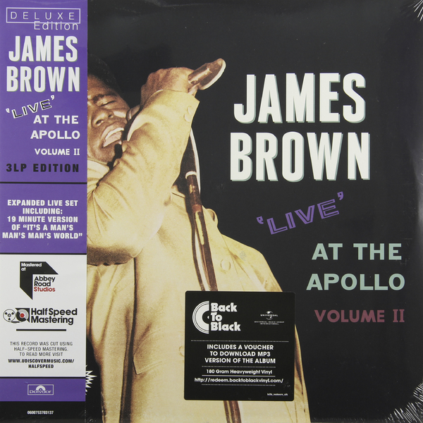 JAMES BROWN JAMES BROWN - LIVE AT THE APOLLO (3 LP, 180 GR)